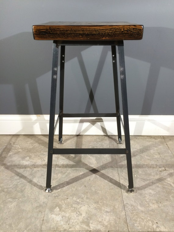 Items Similar To Rustic Bar Stool Made From Reclaimed Barn
