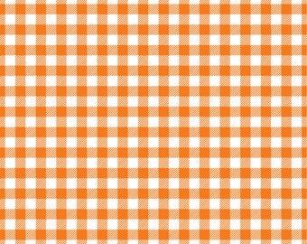 Orange Gingham  craft  vinyl sheet - HTV or Adhesive Vinyl -  orange and white pattern vinyl   HTV217
