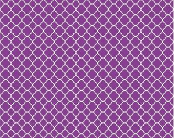 Purple quatrefoil craft  vinyl sheet - HTV or Adhesive Vinyl -  purple and white pattern vinyl HTV502