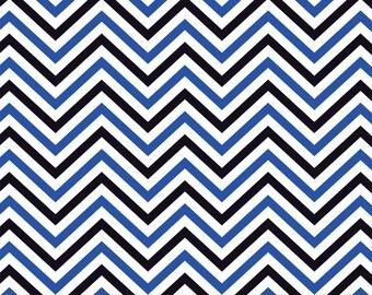 Blue, black and white chevron craft  vinyl sheet - HTV or Adhesive Vinyl -  chevron pattern vinyl HTV130
