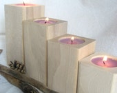 Wooden candle holders - unfinished -Eco-Friendly Home Decor - Wood Craft Supply