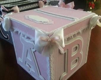card box gif t card box baby shower card box baby keepsake box