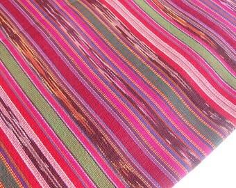 Guatemalan Fabric (#15) - Pink Ikat Fabric - Fabric by Yard - 1 yard