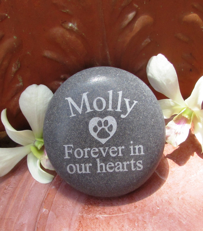 Personalized Pet Memorial Garden Stone Engraved By Loverocksinc