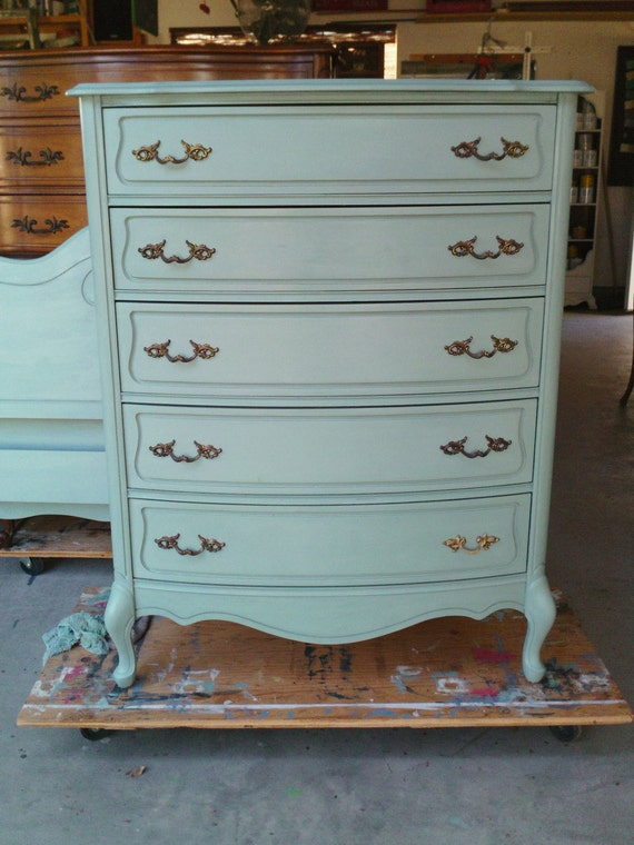 Vintage French Provincial Highboy Chest Of Drawers By