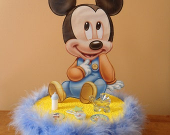 Baby Mickey Mouse Baby Shower Cake Topper / Table Decoration Centerpiece
