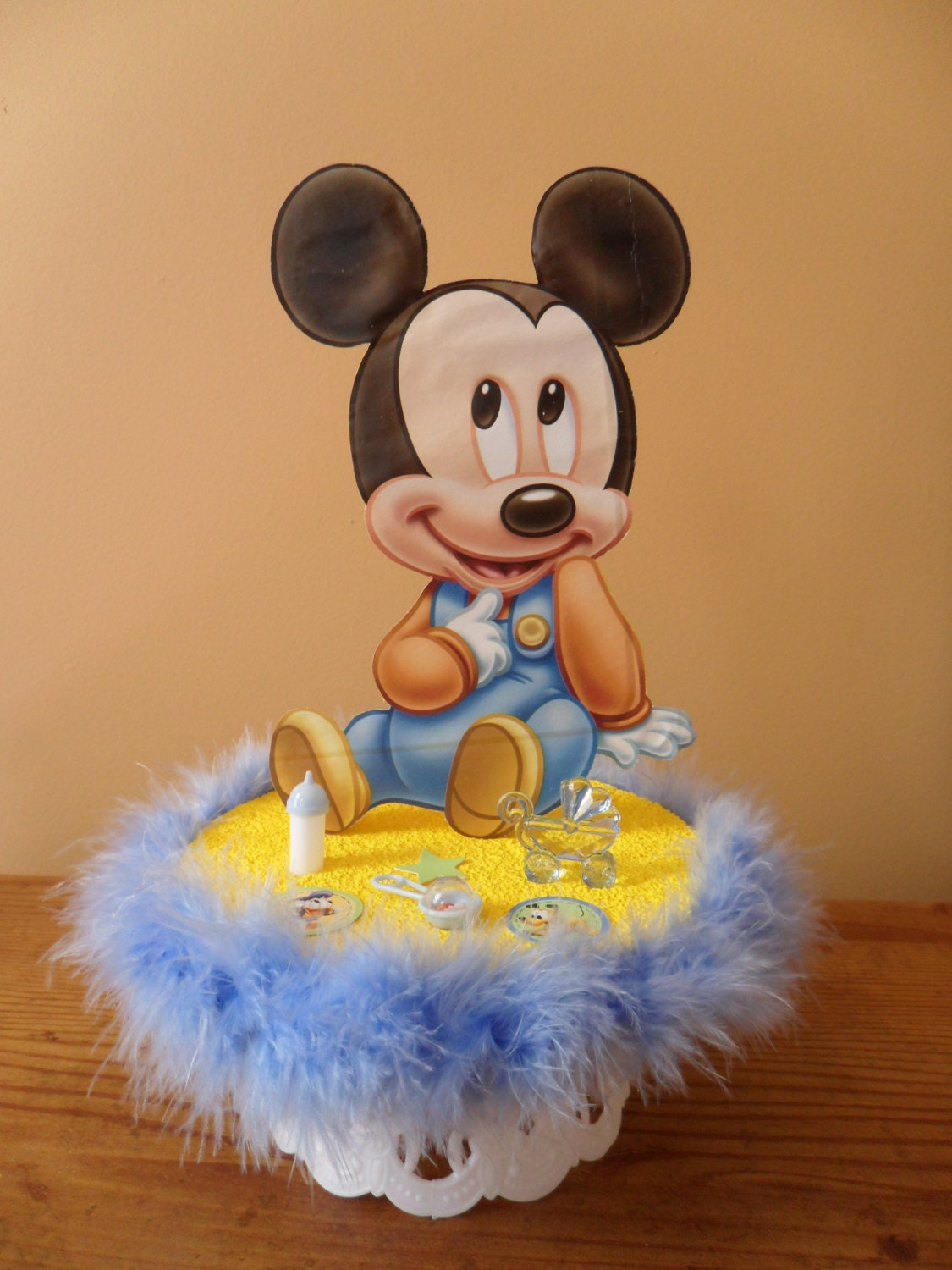 Baby Mickey Mouse Baby Shower Cake Topper / Table Decoration