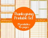 Thanksgiving Planner Set - Editable Printables - Instant Download