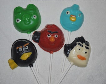 Chocolate Angry Bird Lollipop Set