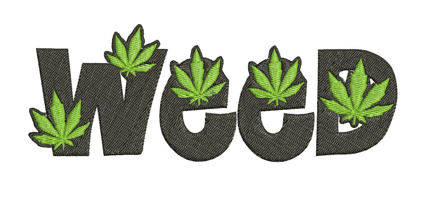 Mauvaises herbes script feuille marijuana cannabis design de - Dessin feuille cannabis ...