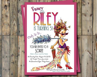 Fancy Nancy Birthday Invitation Personalized