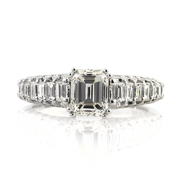 items similar to 2 36ct emerald cut engagement
