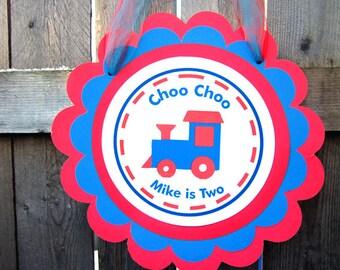 Train Birthday Sign