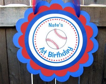 Baseball Birthday Sign