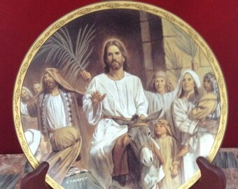 Jesus enters Jersalem by Robert Barnett, life of christ