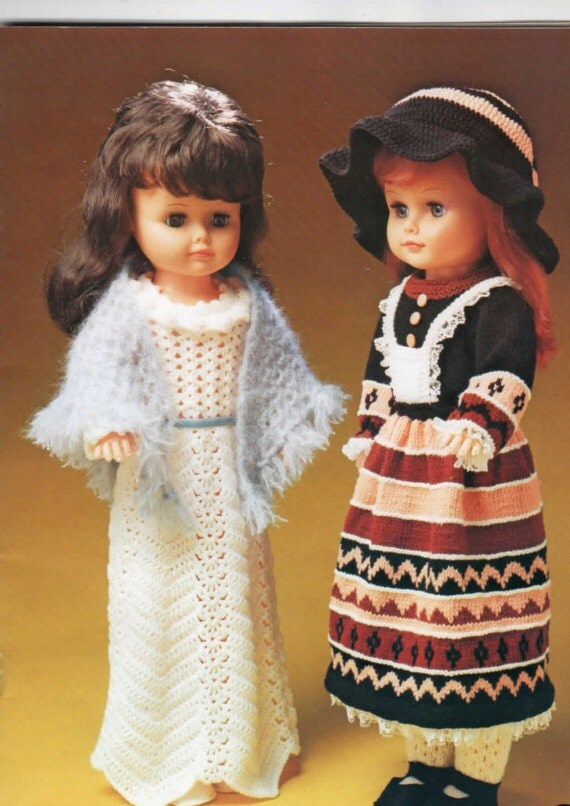 Wendy Knitting Patterns For Dolls : Vintage Dolls Clothes to knit & Crochet for 24 by OzgirlfromOz