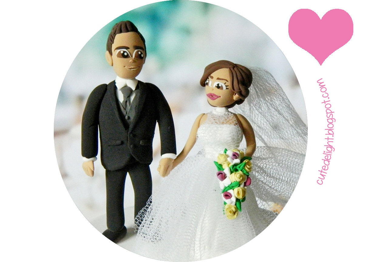 Funny Cake topper Wedding Cake Topper Romantic cake by