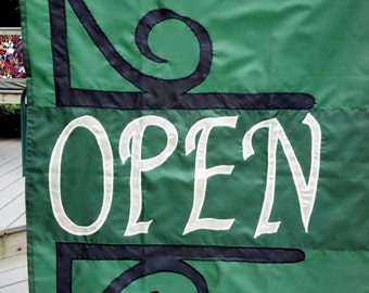 Open Sign Garden Flag