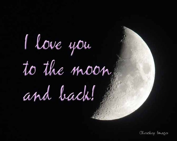 Half The Sky Quote: Items Similar To Half Moon In Night Sky With I Love You To