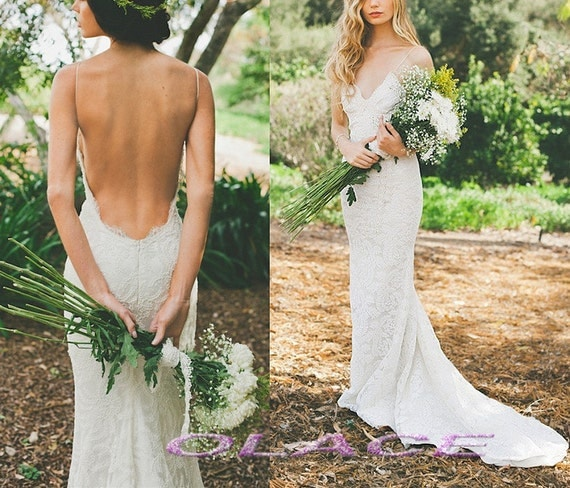 Etsy your place to buy and sell all things handmade for Sexy open back wedding dress
