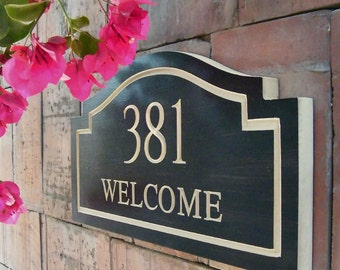 "15"" x 8"" Welcome Home Address Plaque"