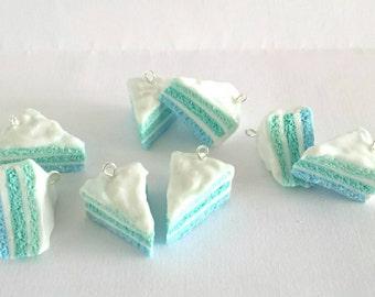 Aqua Three Layer Cute Cake Slices