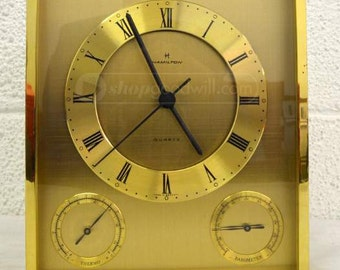 Sale!!!  Vintage Hamilton Brass Mantel Clock
