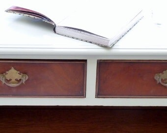 SOLD  Morris vintage, shabby chic, distressed, handpainted  bookcase,shelves,storage, upcycled, retro,vintage,shabby chic,bespoke.