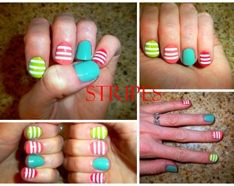 Stripes Nail Decals
