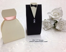 Bride And Groom Favor Boxes Bride Favor Boxes Ivory