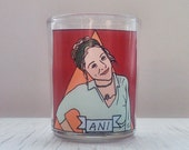 Ani DiFranco Glass Votive Candle // LGBTQ Altar Candle