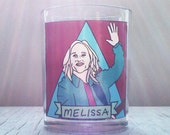 Melissa Etheridge Glass Votive Candle // Gay Altar Candle