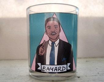 Bayard Rustin Glass Votive Candle // LGBTQ Altar Candle