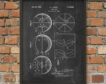 Basketball Patent Wall Art Poster