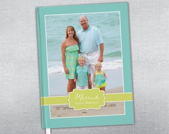 Personalized Family Memories Journal. Family journal. Personalized hard cover journal.
