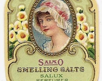 French Vintage Smelling Salts Label jpeg instant digital download