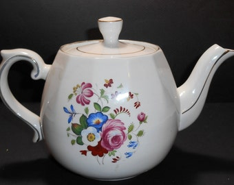 1920 S Japanese Swan On Lake Hand Painted Tea Pot