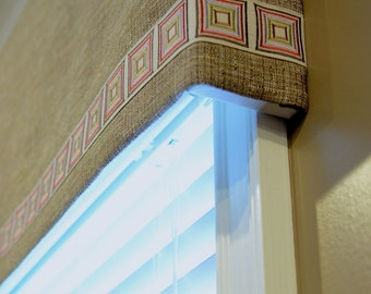 Soft Cornice Valance with Banding