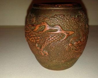 Japanese Tokoname Jardiner Red Clay Pottery