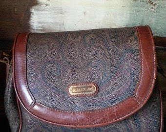 Vintage Carryland USA Paisley Print Cross Body/Shoulder Bag/ Handbag