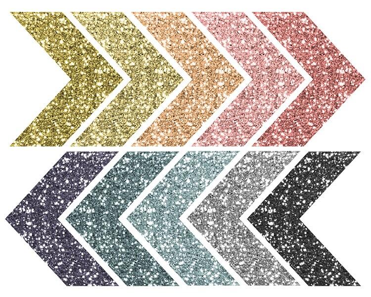 Glitter Clip Art / Chevron Sparkle Clip Art Arrows / Tribal
