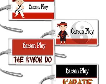Karate Tae Kwon Do Luggage Bag Tags
