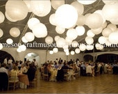 "70 Paper Lantern Led set 10x20"" 20x18"" 20x16"" 10x12"" 10x10"" Round White Paper Lanterns Wedding Party Floral Decoration with Led Lights"