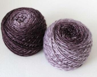 Grayscale, Evolution, Hand dyed Sport Sock 85/15 wool/nylon