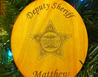 Custom Personalized Wood Christmas Ornament