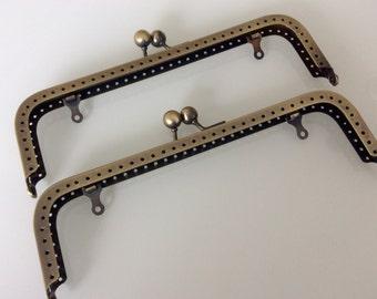 Set of 2 - 18,5 cm anti brass purse frame Ref. 38-185