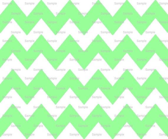 Mint green chevron background
