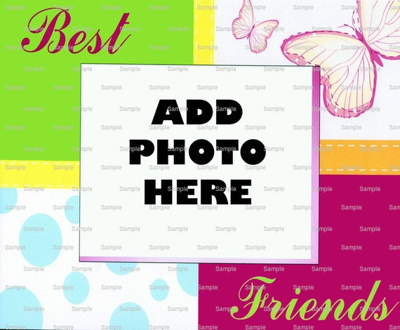 Best Friends Cake Topper - Edible Cake and Cupcake Photo Frame For Birthdays and Parties! - D4452