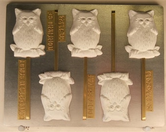 Wise Owl On A Branch Lollipop Candy Mold, AO273