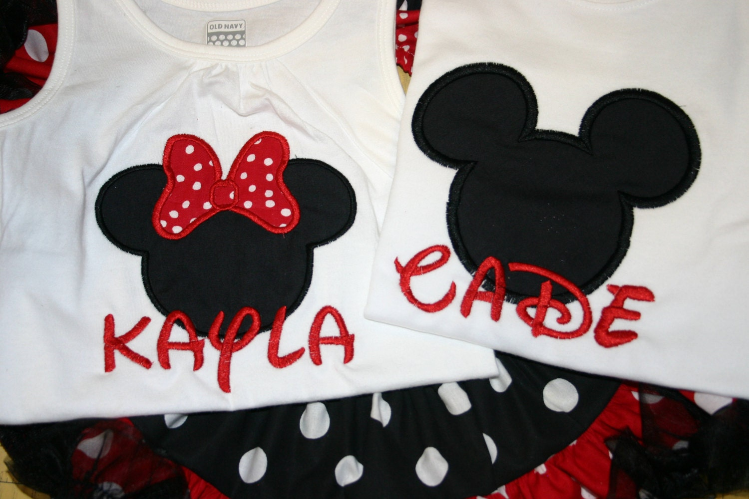 Boys Mickey Mouse Birthday Shirt Personalized Embroidered